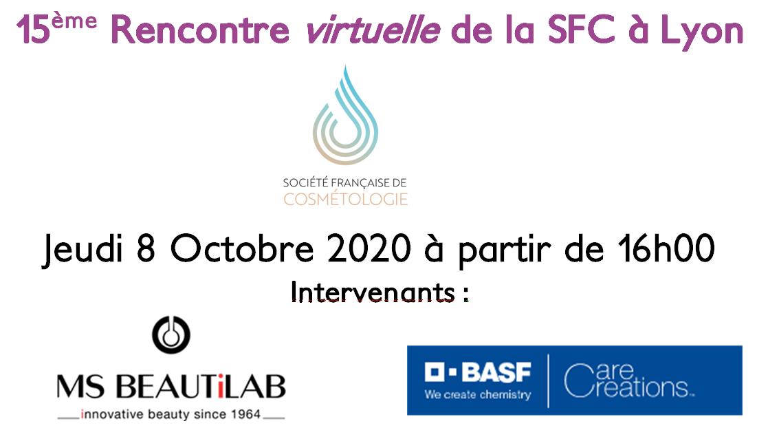 8 OCTOBRE 2020 : Rencontre virtuelle de la SFC à Lyon